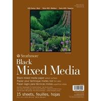"""Εικόνα του Strathmore Mixed Media Pad 9""""X12"""" - Black"""