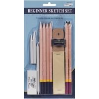 Εικόνα του Pro Art Beginner Sketch Set - Σετ Ζωγραφικής Γραφίτη & Κάρβουνο