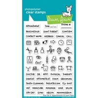 "Εικόνα του Lawn Fawn Σφραγίδες Planner Clear 4""X6"" - Plan On It: Appointments"
