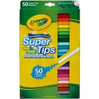 Εικόνα του Πλενόμενοι μαρκαδόροι Crayola Super Tips Washable Markers - Σετ 50 τμχ