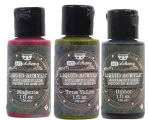 Picture of Finnabair Art Alchemy Liquid Acrylic Paint - Value Pack of 3