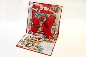 Χριστουγεννιάτικη κάρτα τύπου Easel