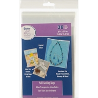"Εικόνα του Darice Self-Sealing Bags - 5.25""X7.25'' Clear"