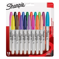 Εικόνα του Sharpie Fine Point Permanent Markers 18/Pkg