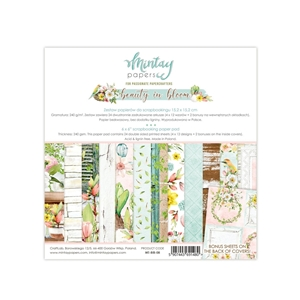 Picture of Mintay Papers Μπλοκ Scrapbooking Beauty in Bloom 6''x6''