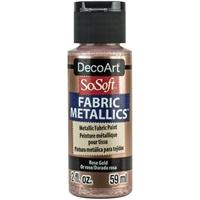Εικόνα του SoSoft Fabric Metallics Ακρυλικο Χρώμα για Ύφασμα 59ml - Rose Gold