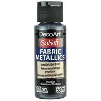 Εικόνα του SoSoft Fabric Metallics Ακρυλικο Χρώμα για Ύφασμα 59ml - Obsidian