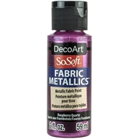 Εικόνα του SoSoft Fabric Metallics Ακρυλικο Χρώμα για Ύφασμα 59ml - Raspberry Quartz