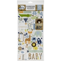 "Εικόνα του Echo Park Baby Boy Chipboard 6""X13"" - Accents"