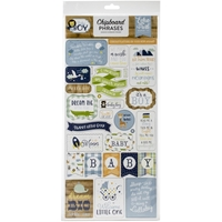 "Εικόνα του Echo Park Baby Boy Chipboard 6""X13"" - Phrases"