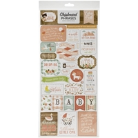 "Εικόνα του Echo Park Baby Girl Chipboard 6""X13"" - Phrases"