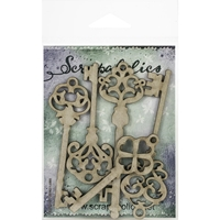 Εικόνα του Scrapaholics Laser Cut Chipboard 1.8mm - Skeleton Keys
