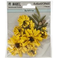Εικόνα του 49 And Market Χάρτινα Λουλούδια Enchanted Petals - Sunshine