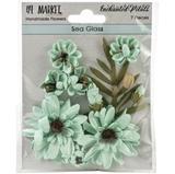 Εικόνα του 49 And Market Χάρτινα Λουλούδια Enchanted Petals - Sea Glass