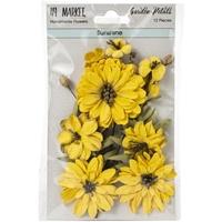 Εικόνα του 49 And Market Χάρτινα Λουλούδια Garden Petals - Sunshine