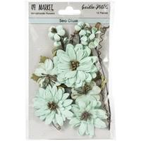 Εικόνα του 49 And Market Χάρτινα Λουλούδια Garden Petals - Sea Glass