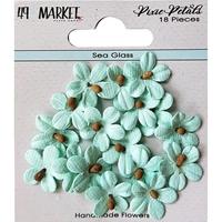 Εικόνα του 49 And Market Χάρτινα Λουλούδια Pixie Petals - Sea Glass