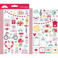 Εικόνα του Dooblebug Mini Cardstock Stickers - Love Notes