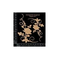 Εικόνα του Scrapaholics Laser Cut Chipboard 1.8mm - Rose Flourish Corners