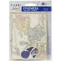 Εικόνα του Prima Marketing Capri Cardstock Ephemera - Shapes, Tags, Words, Foiled Accents
