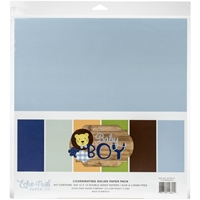 "Εικόνα του Echo Park Double-Sided Solid Cardstock 12""X12"" - Baby Boy"