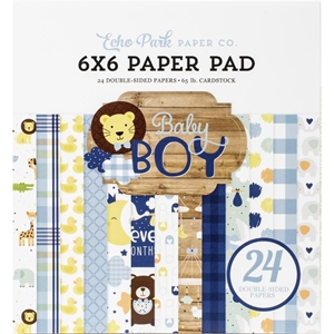 "Picture of Echo Park Double-Sided Paper Pad 6""X6"" - Baby Boy"