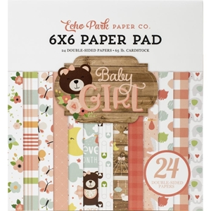 """Picture of Echo Park Double-Sided Paper Pad 6""""X6"""" - Baby Girl"""