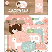 Εικόνα του Echo Park Cardstock Ephemera - Baby Girl Icons