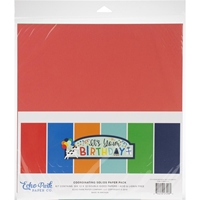 "Εικόνα του Echo Park Double-Sided Solid Cardstock 12""X12"" - It's Your Birthday Boy"