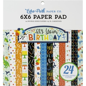 "Picture of Echo Park Double-Sided Paper Pad 6""X6"" - It's Your Birthday Boy"