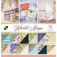 """Εικόνα του DCWV Μπλοκ Scrapbooking 12""""X12"""" - World Maps"""