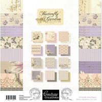 """Εικόνα του Couture Creations Μπλοκ Scrapbooking Διπλής Όψης 12""""X12"""" - Butterfly Garden"""