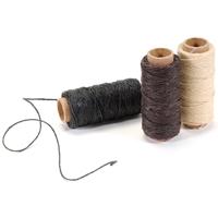 Εικόνα του Lineco Λινό Κερωμένο Νήμα 5 Ply - Natural, Brown, Black