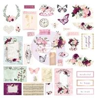 Εικόνα του Prima Marketing Pretty Mosaic Cardstock Ephemera - Shapes, Tags, Words, Foiled Accents