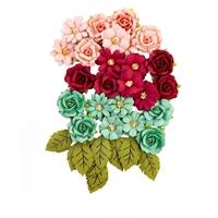 Εικόνα του Pretty Mosaic Χάρτινα Λουλούδια Mulberry - Amazonite