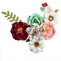Εικόνα του Pretty Mosaic Χάρτινα Λουλούδια Mulberry - Emerald Dream