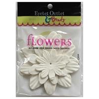 Εικόνα του Eyelet Outlet Χάρτινα Λουλούδια - White