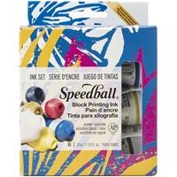 Εικόνα του Speedball Block Printing Ink Set - Μελάνι Λινοτυπίας 6 τμχ