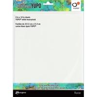 Εικόνα του Tim Holtz Φύλλα Yupo για Μελάνια Οινοπνεύματος -  Heavy White 8''x10''