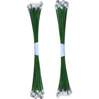 Εικόνα του Κατασκευή Λουλουδιών Dress My Craft Drop Shape Wire Pollen - White #2