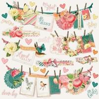 """Εικόνα του Simple Stories Garden District Cardstock Stickers 12""""X12"""" - Banners"""