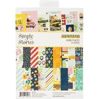 """Εικόνα του Simple Stories Double-Sided Paper Pad 6""""X8""""  - Going Places"""
