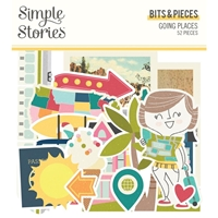 Εικόνα του Simple Stories Going Places Bits & Pieces Die-Cuts