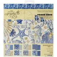 """Εικόνα του Graphic 45 Double-Sided Paper Pad 8""""X8""""  - Ocean Blue"""