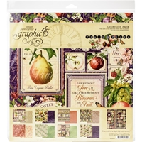 """Εικόνα του Graphic 45 Collection Pack 12""""X12"""" - Fruit & Flora"""