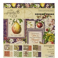 "Εικόνα του Graphic 45 Double-Sided Paper Pad 8""X8""  - Fruit & Flora"