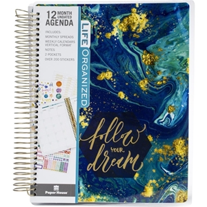 Picture of Paper House Life Organized 12-Month Undated Planner - Follow Your Dream