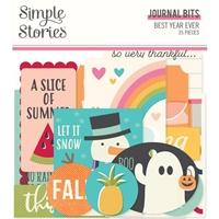 Εικόνα του Simple Stories Best Year Ever Bits & Pieces Die-Cuts - Journal Bits