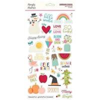 """Εικόνα του Simple Stories Best Year Ever Chipboard Stickers 6""""X12"""""""