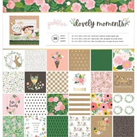 "Εικόνα του Pebbles Single-Sided Paper Pad 12""X12""  -  Lovely Moments"